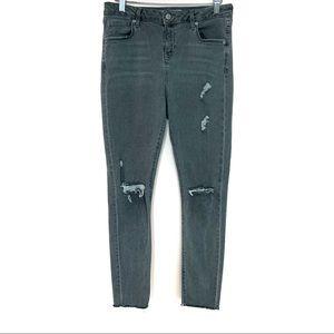 Topshop Moto Jamie Gray Distressed Skinny Jeans